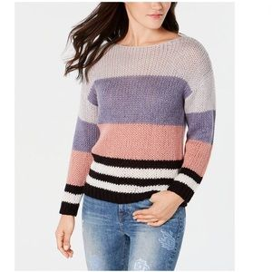 Lucky Brand Striped Colorblock Sweater